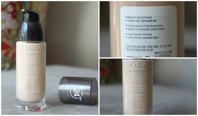 Revlon color stay foundation makeup matte full coverage 24 hours all day last long australian beauty review ausbeautyreview blog blogger aussie makeup cosmetics drugstore priceline beautiful pretty sand beige 180 oily
