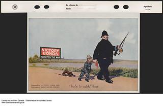 Victory Bonds Shorten The War—Help To Catch Huns / La guerre dure moins longtemps grâce à l'Emprunt de la Victoire –Aidez-nous à capturer les Huns