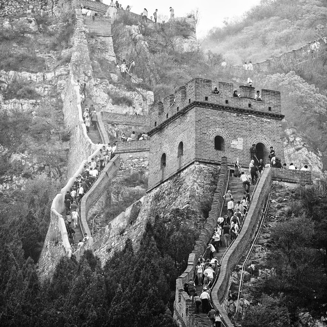 居庸關長城 Juyong Guan, Great Wall (Panorama) / 中國北京 Beijing, China / SML.20140501.7D.52000-SML.20140501.7D.52008-Pano.i9.C.P1.SQ.BW