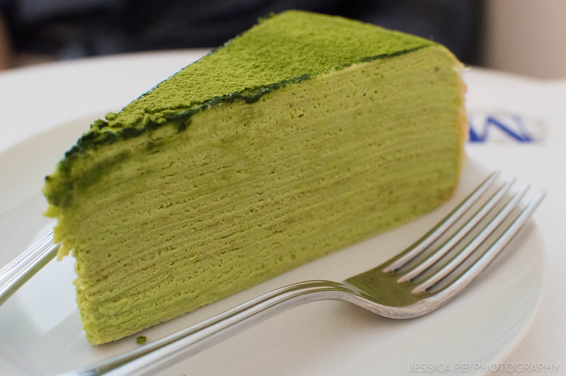 Green tea mille crepe Lady M Confections