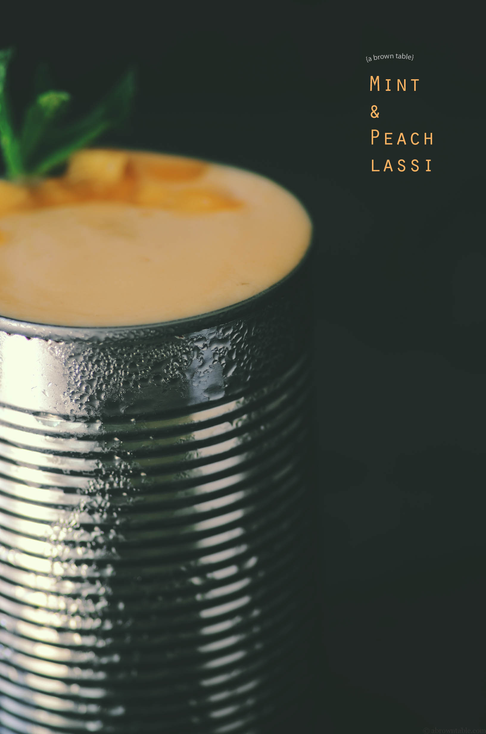 peach and mint lassi