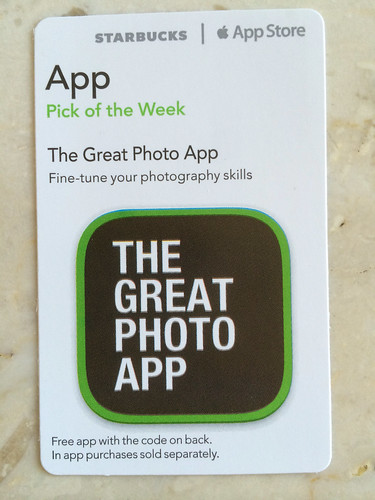 Starbucks iTunes Pick of the Week - The Great Photo App