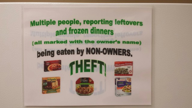Break Room Sign