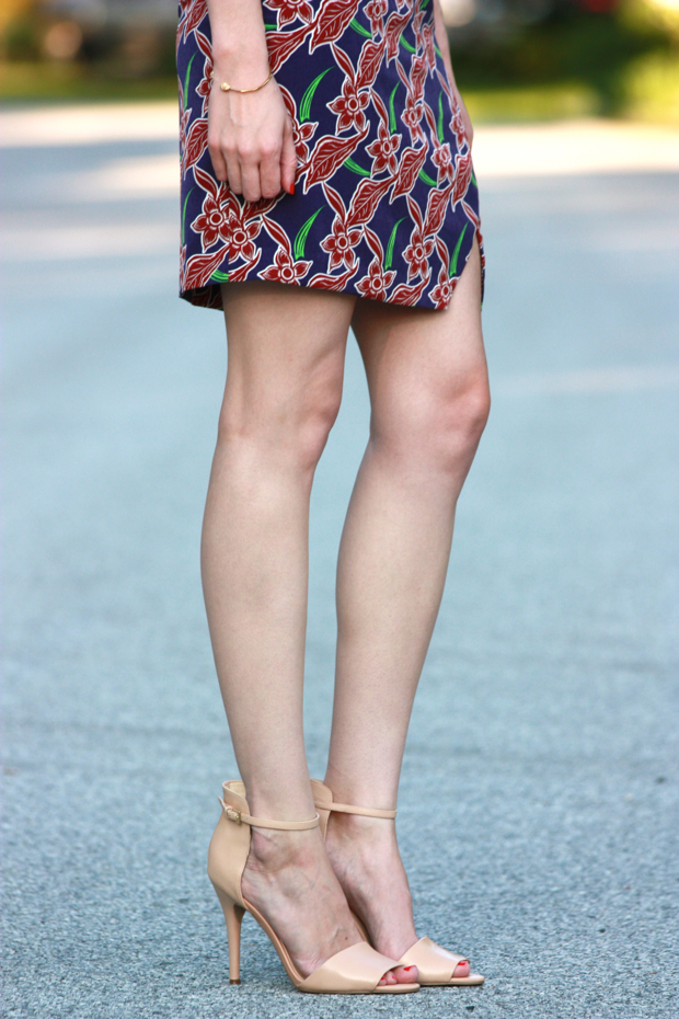 Topshop, Nude Heels, Floral Dress
