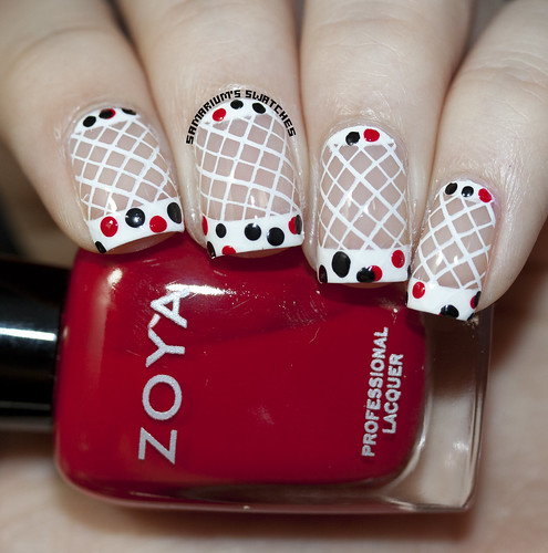 Modcloth Nail Art With Only a Wink Dress in Dots