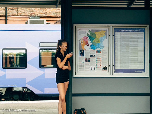 Esperando al tren en Ystad