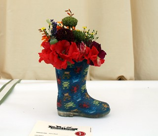 Flowers in a Wellie