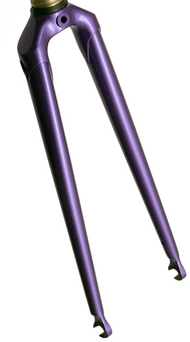"<p>Gunnar Track Star Fork in Starlight Purple - 1 1/8"" steerer, oval blades. straight blade with brake holes, this fork can be ridden both on and off the ttrack.</p>"