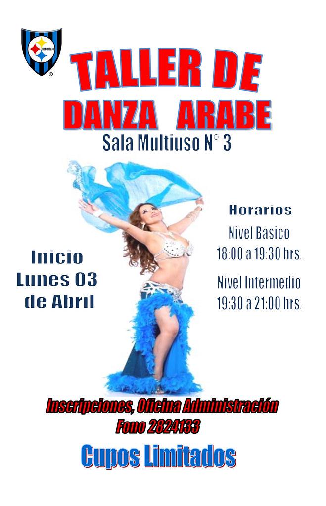 Atención socias acereras, se inicia el taller de Danza Árabe