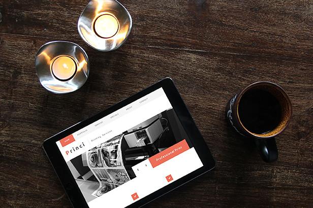 Princi - Responsive Printing Services Web Template - 8