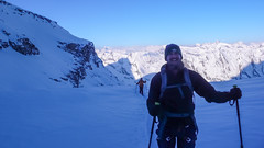 W drodze ze schroniska Rif. Vittorio Emanuelle II  2735m. na szczyt Gran Paradioso 4061m