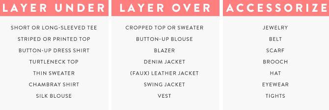 staple series tweed dress chart