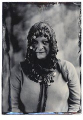 Portrait taken by John Brewer at the wet plate portrait event fundraising event for Stockport College....