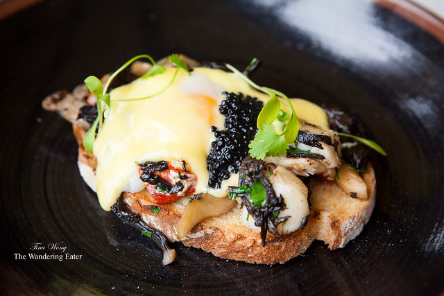 Special of the day: Lobster Benedict topped with caviar
