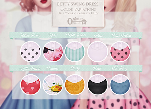 Betty Swing Dress - Contact Sheet