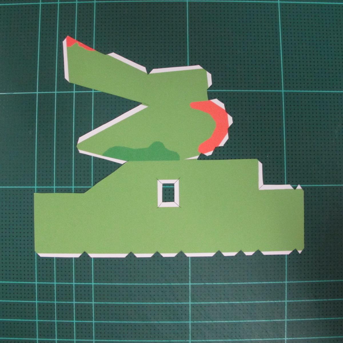 วิธีทำโมเดลกระดาษตุ้กตา คุกกี้ รัน คุกกี้รสซอมบี้ (LINE Cookie Run Zombie Cookie Papercraft Model) 004