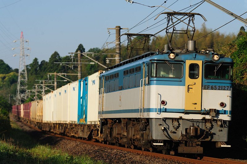 1095レ EF65 2127 Freight Train