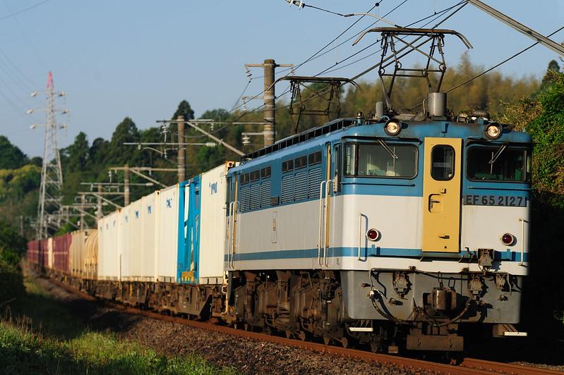 1095レ EF65 2127 Freight Train