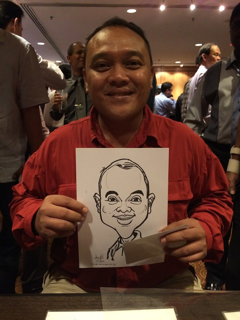 caricature live sketching for SATS PCEO Awards 2014