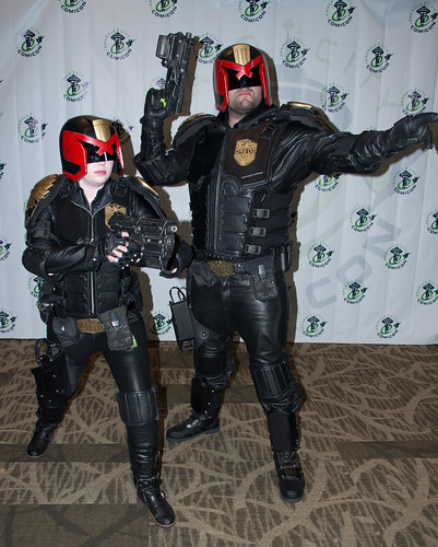 Judges Anderson and Dredd