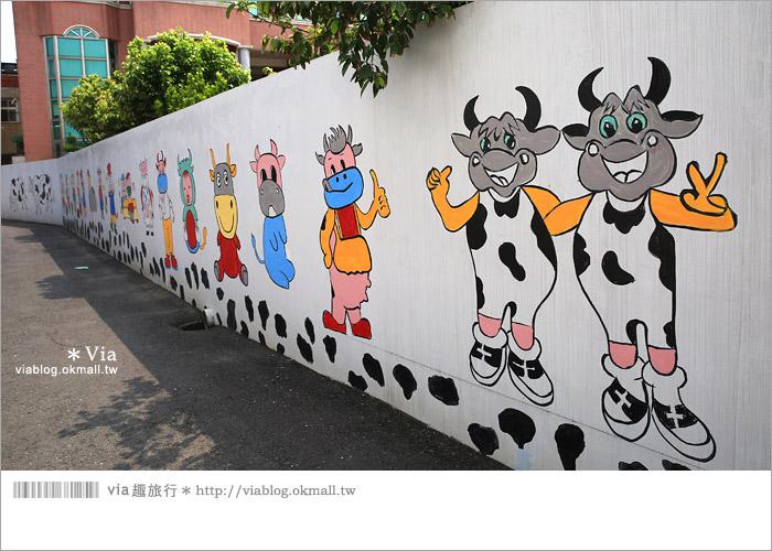 【彰化景點推薦】乳牛彩繪村(福寶村)~數百頭彩色小牛+夢幻藍晒圖的彩色村9