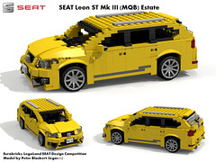 SEAT Leon MkIII ST Estate -  MQB (Eurobricks Miniland Car Design Competition)