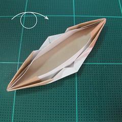 การพับกระดาษเป็นรูปเรือเรือสำปั้น (Origami Sampan) 011