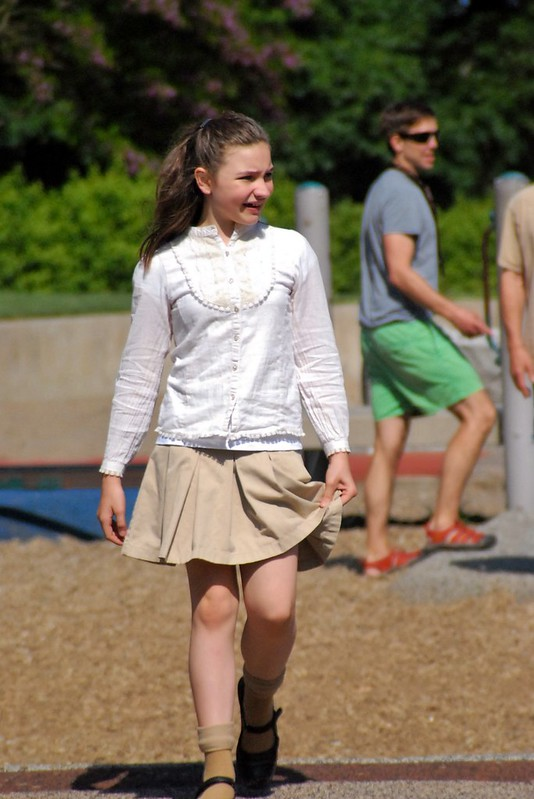 girl at playground
