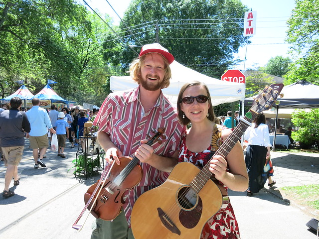 IMG_4356 2014-04-26 Max and Maggie were at the Inman Park Festival. — with Max Godfrey and Maggie Hall.
