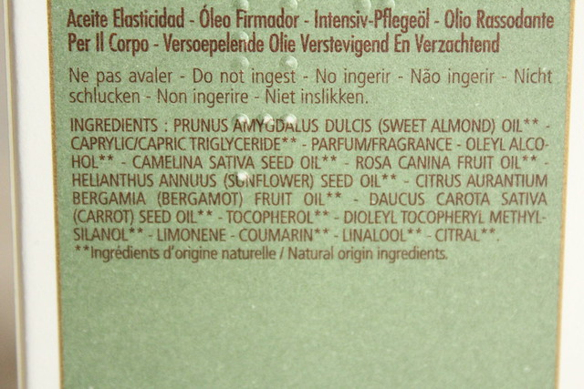 L'Occitane Almond Supple Skin Oil ingredients