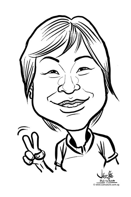 digital live caricature sketching for National Heart Centre Singapore -1