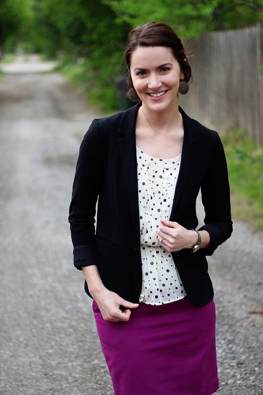 pinkpencilskirt-polkadots-blazer-3