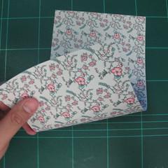 วิธีพับกระดาษรูปหัวใจคู่ (Origami Double Heart)  001