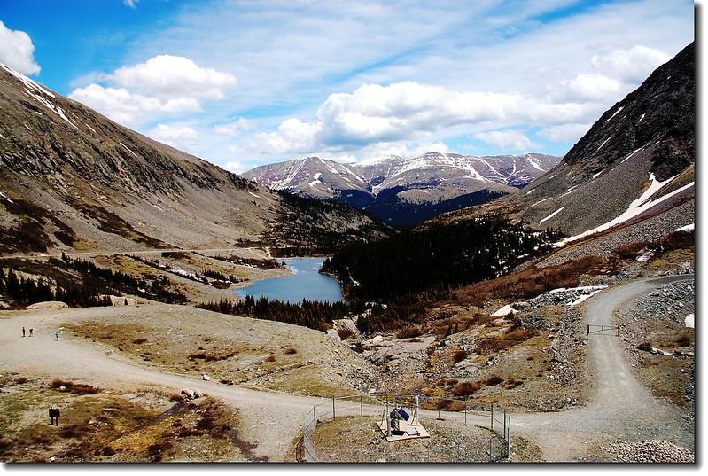 Hoosier Ridge as seen from Blue lake