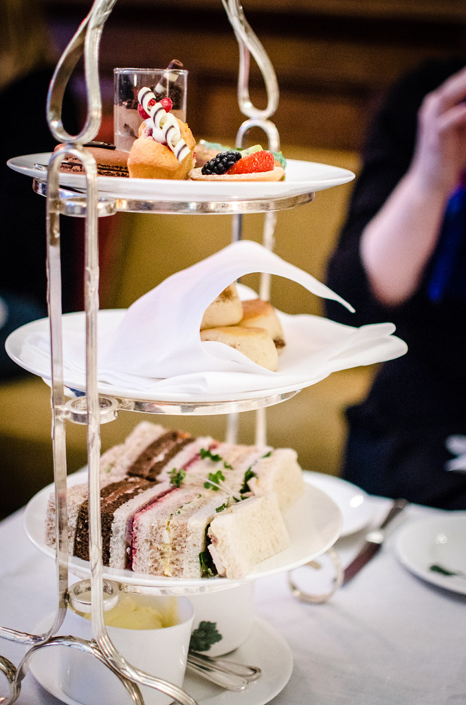 A tower of tea treats at Brown's Hotel in London.