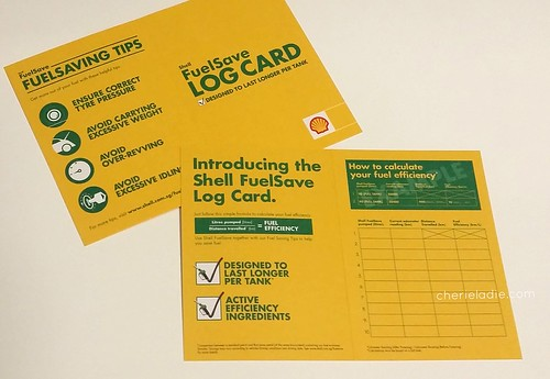 Shell FuelSave Log Card