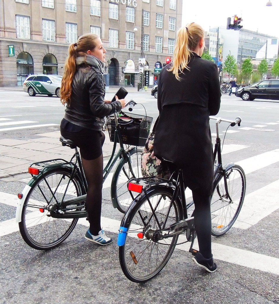 Ponytail Cycle Chic in Copenhagen