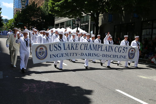 USS LAKE CHAMPLAIN VISITS PORTLAND FOR ANNUAL ROSE FESTIVAL