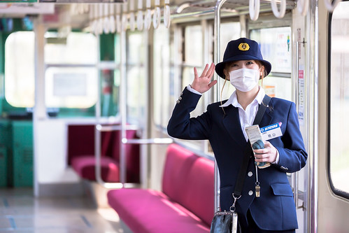 railroad portrait japan train canon railway 千葉 鉄道 ローカル線 conductress localline 銚子電鉄