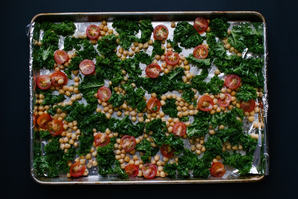 Grilled Kale and Chickpea Salad | Simple Provisions