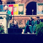 Drew Brees looks on as Scott Cowen opens the Commencement ceremonies #Tulane #tulane14 #onlyattulane
