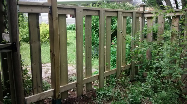 New fence section