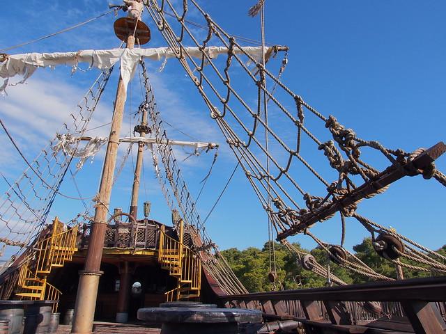 海盜船的甲板