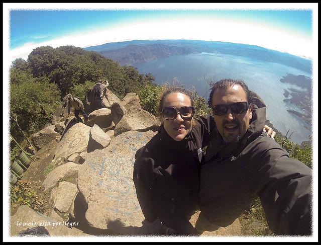 Vistas en la cima del Volcán San Pedro
