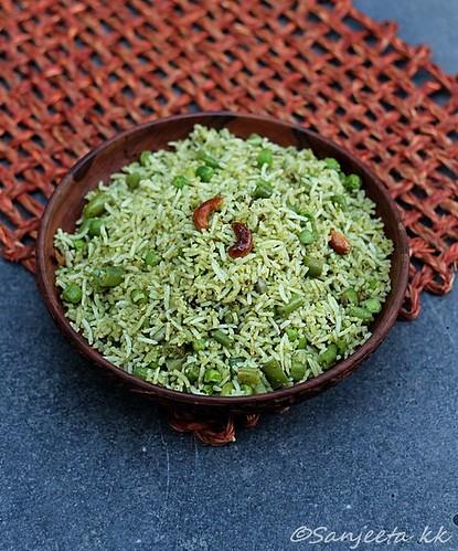 Gujarati recipe-Lila Pulav