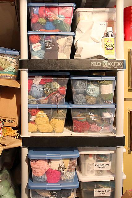 Organized is relative. But it's the yarn. Definitely the yarn.