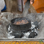 Roasting Coffee Beans in an Ethiopian Coffee Ceremony