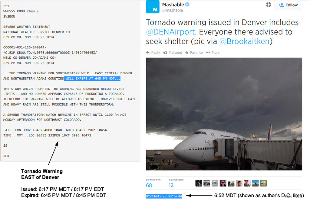 maskable tornado tweet denver colorado
