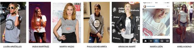 Celebrities con camisetas de Victoria Rockera