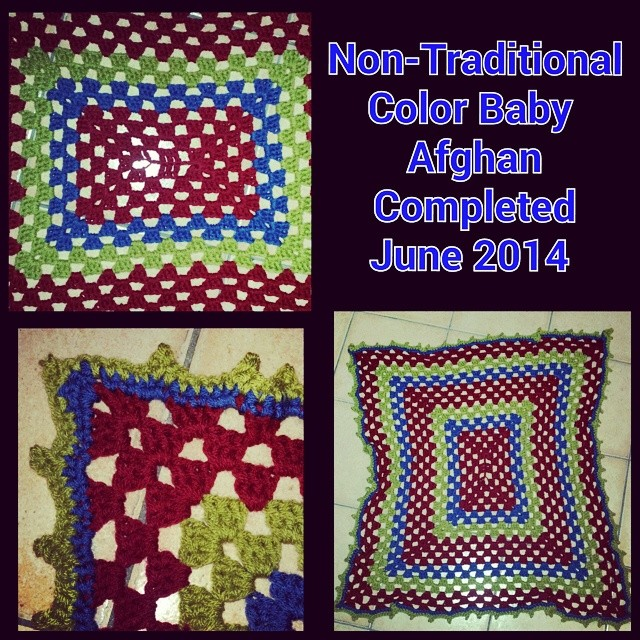 Non-Traditional colored Granny rectangle baby crochet Afghan in Mulberry, Olive, and Airforce blue. Completed June 10,2014. #crochet #phoenixrosedesign #handmade #handwork #craft #boy #craftylady #skills #creative #yarn #mulberry #olive #airforce #blue #c